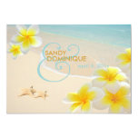 PixDezines Plumeria Lei+starfish+beach Card