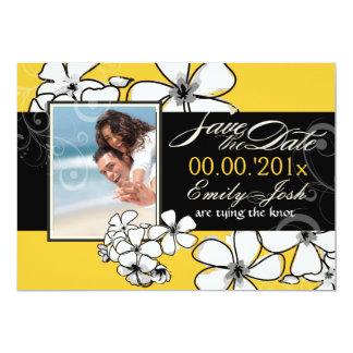 PixDezines Plumeria Save the Date/DIY color 5x7 Paper Invitation Card