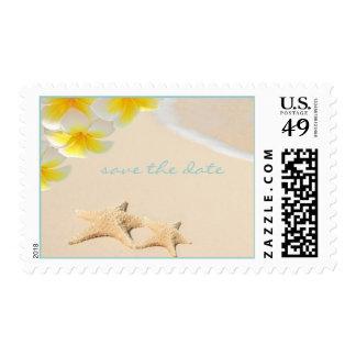 PixDezines Plumeria+Starfish Beach DIY postage