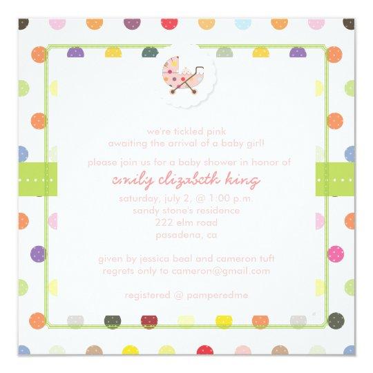 PixDezines Polkadots + Minidots baby shower Card