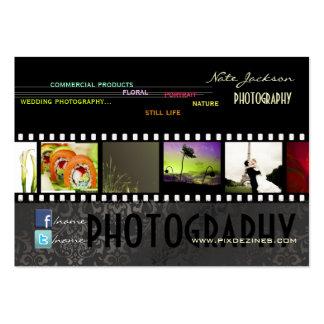 PixDezines portfolio photos template DIY color Business Cards