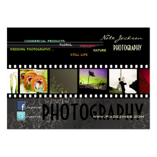 PixDezines portfolio photos template/DIY color Business Cards
