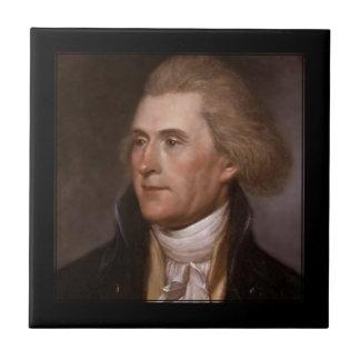 PixDezines President Thomas Jefferson Ceramic Tile