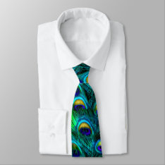 Pixdezines Psychedelic Peacock/cobalt/aqua Blue Tie at Zazzle