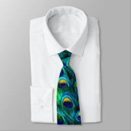 PixDezines Psychedelic Peacock/Cobalt/Aqua Blue Tie