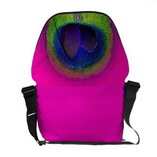 PixDezines Psychedelic Peacock/cobalt blue+emerald Courier Bags