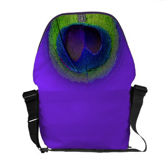 PixDezines Psychedelic Peacock/cobalt blue+purple Courier Bag