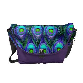 PixDezines Psychedelic Peacock/cobalt blue+purple Courier Bags