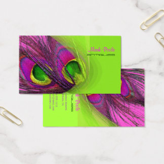 PixDezines Psychedelic Peacock, Customize It! Business Card