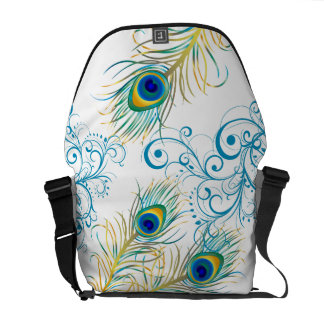 PixDezines Psychedelic Peacock/diy background Messenger Bags