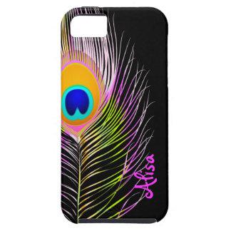 PixDezines Psychedelic Peacock/diy color iPhone SE/5/5s Case