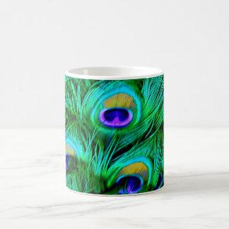 PixDezines Psychedelic Peacock Feather Coffee Mug