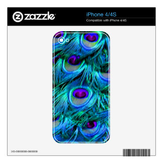 PixDezines psychedelic peacock feather iPhone 4 Skin