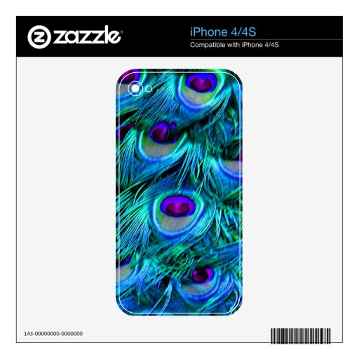 PixDezines psychedelic peacock feather iPhone 4 Skin