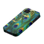 PixDezines Psychedelic Peacock+filigree swirls Case For The iPhone 4
