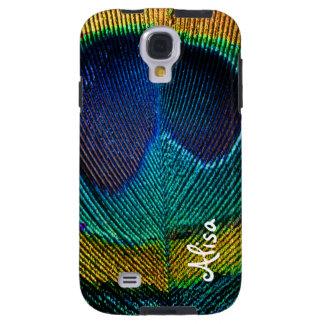 PixDezines Psychedelic Peacock Galaxy S4 Case
