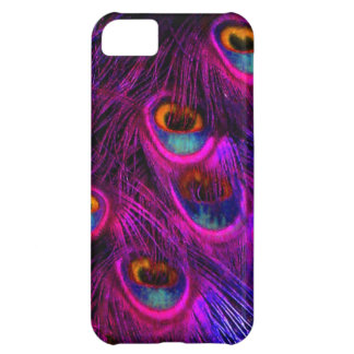 PixDezines Psychedelic Peacock, hot pink Case For iPhone 5C