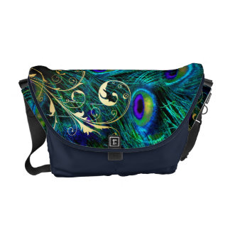 PixDezines Psychedelic Peacock Courier Bags