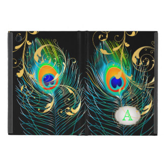 PixDezines psychedelic peacock/removable label Cover For iPad Mini