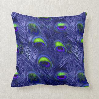 PixDezines psychedelic peacock Throw Pillow