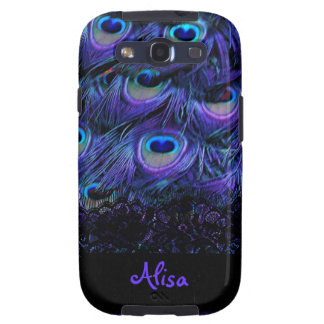 PixDezines psychedelic peacock with lace Samsung Galaxy SIII Cover