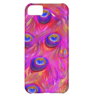 PixDezines psychedelic pink peacock feather Cover For iPhone 5C