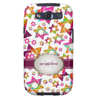 PixDezines psychedelic stars/diy bckgrnd color Galaxy S3 Cover