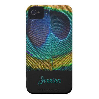 PixDezines Psychedellic Peacock/DIY iPhone 4 Case-Mate Carcasas