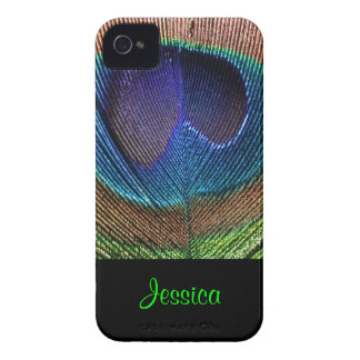 PixDezines Psychedellic Peacock/DIY iPhone 4 Case-Mate Fundas