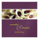PixDezines purple calla lilies/diy color Personalized Announcement