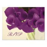 PixDezines purple calla lilies/diy 4.25x5.5 Paper Invitation Card