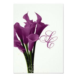 PixDezines purple calla lilies/diy Custom Invite