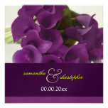 PixDezines purple calla lilies/diy Custom Invitation