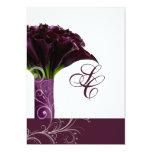 PixDezines purple calla lilies/diy 5x7 Paper Invitation Card