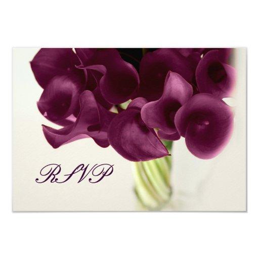 PixDezines purple calla lilies/diy 3.5x5 Paper Invitation Card