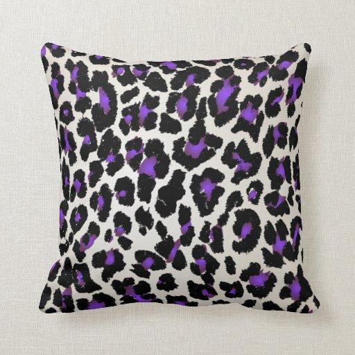 Diy Quote Throw Pillow : PixDezines purple+gold cheetah/diy colors Throw Pillow Zazzle