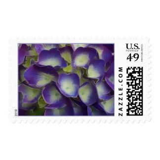 PixDezines purple hydrangea Stamp