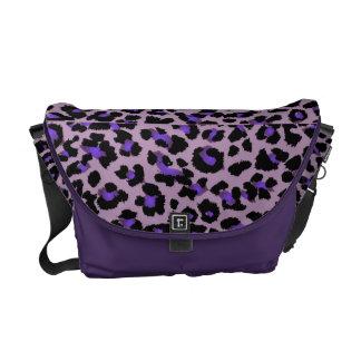 PixDezines purple leopard/DIY background color Messenger Bag