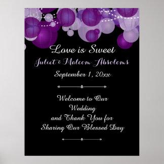 PixDezines purple paper lanterns/reception Poster