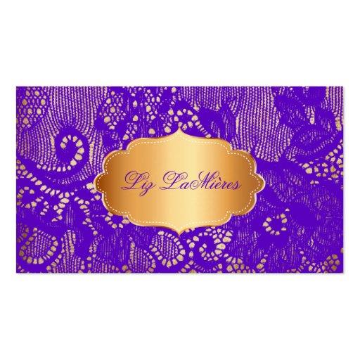 PixDezines purple vintage lace Business Card