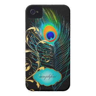 PixDezines pzazz peacock plume+filigree swirls Case-Mate iPhone 4 Case