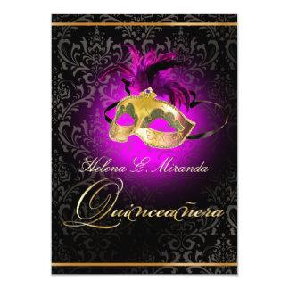 PixDezines Quincenera/Magenta/DIY color!!/Damask Card