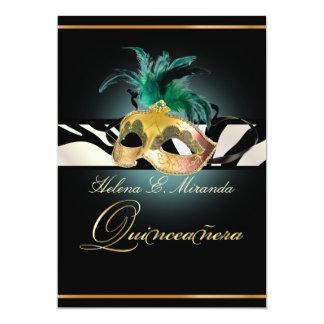 PixDezines Quincenera/teal Zebra/DIY color!! Card