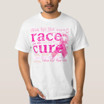 PixDezines Race for the Cure, Pink Ribbon T-Shirt