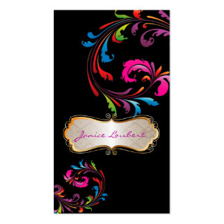 PixDezines Rainbow Swirls Business Cards