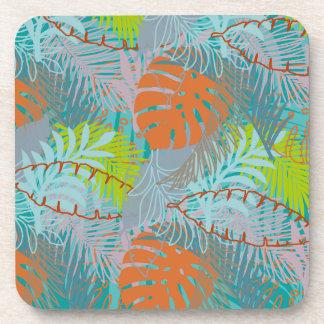 PixDezines rainforest/DIY background color Beverage Coaster