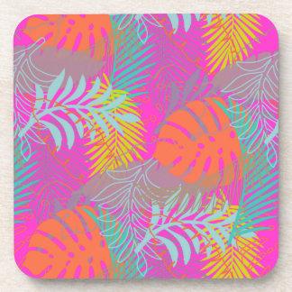 PixDezines rainforest/DIY background color Beverage Coasters