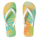PixDezines rainforest/DIY background color Flip Flops