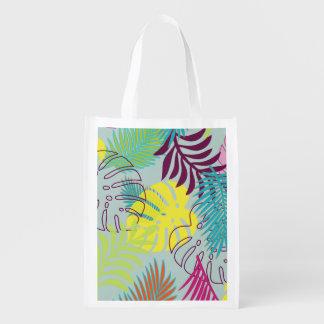 PixDezines rainforest/DIY background color Reusable Grocery Bag