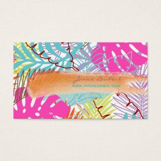 PixDezines rainforest/tropical foliage/DIY color Business Card